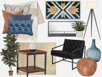 Interior Design Board by Gina Jacobson, CL Designs Duluth, MN 2019 all rights reserved